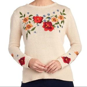 Cliché floral embroidered sweater